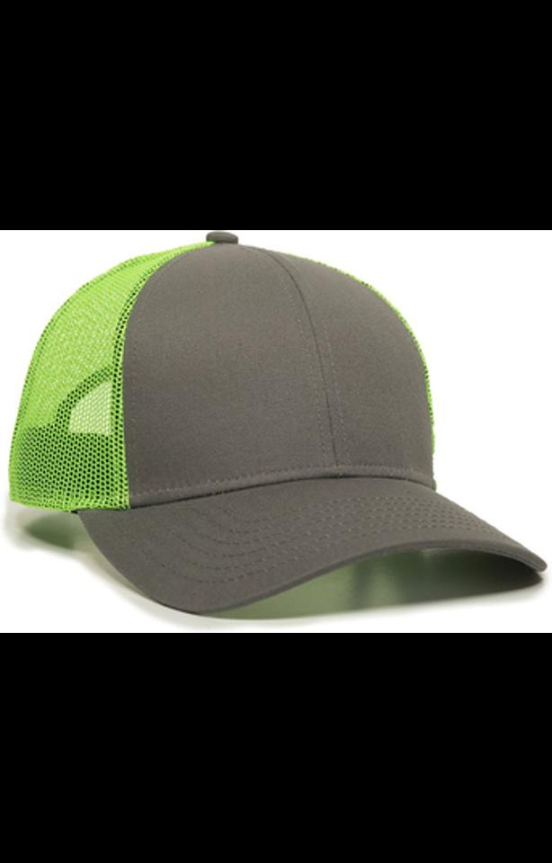 Outdoor Cap OC770 Charcoal / Neon Green