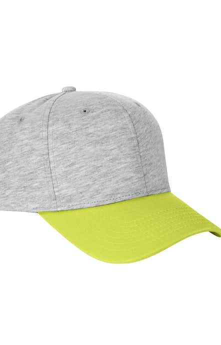 Team 365 TT120 Heather Grey/Sport Safety Green