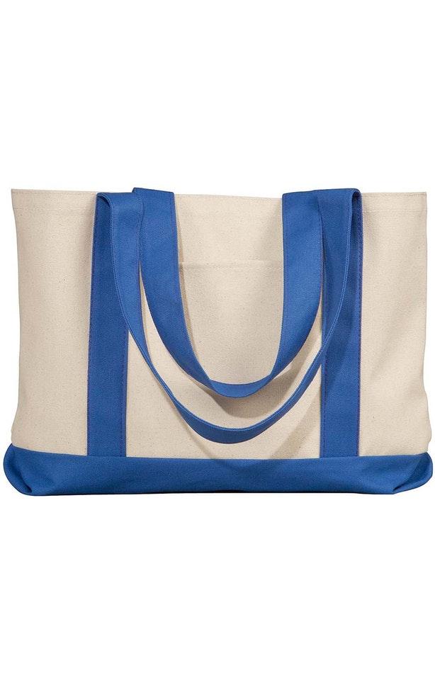 Liberty Bags 8869 Natural/Royal