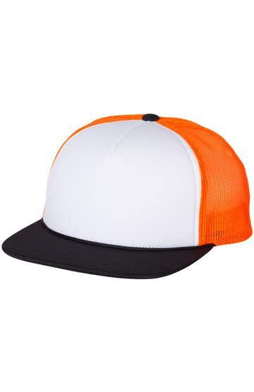 Richardson 113 White/ Neon Orange/ Black