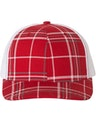 Richardson 112P Plaid Print Red/ Charcoal/ White