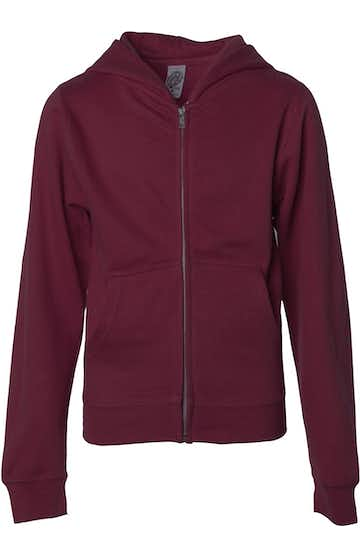 Independent Trading SS4001YZ Maroon
