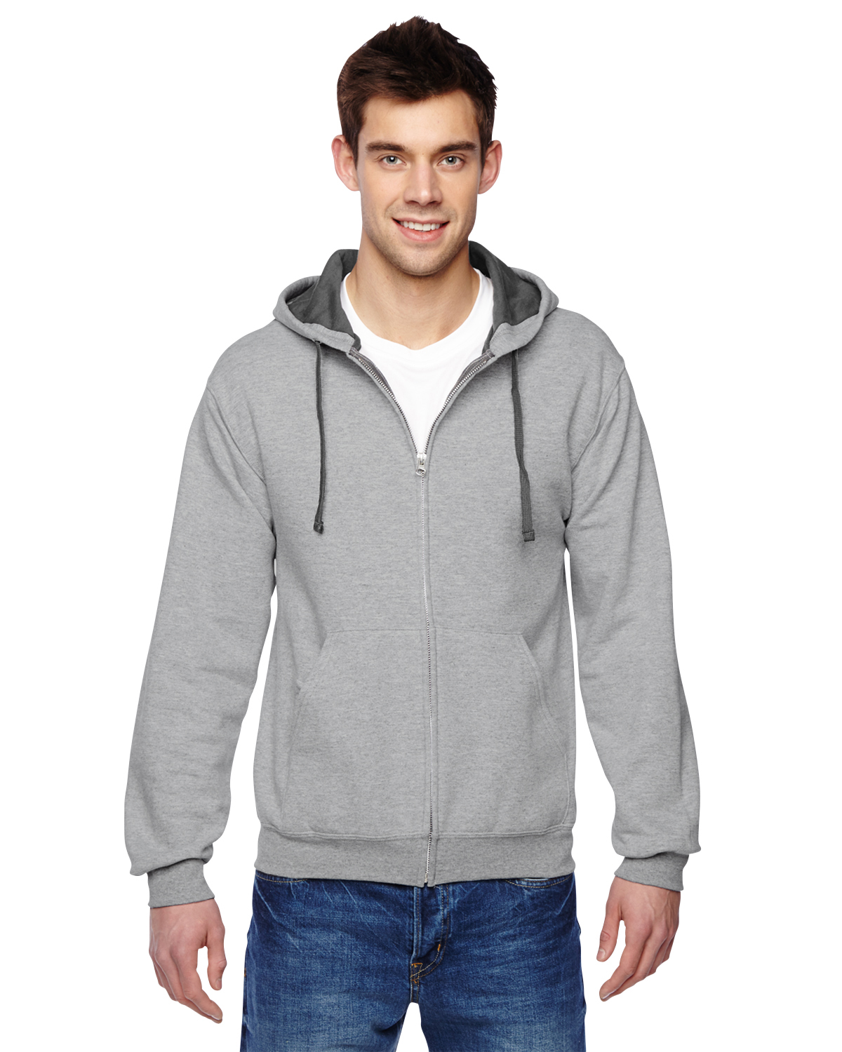 Fruit of the Loom Adult SofSpun® Full-Zip Hooded Sweatshirt Hoodie S-3XL SF73R