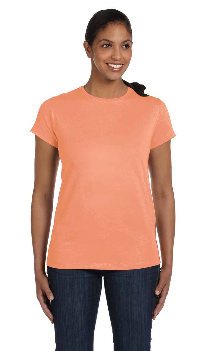 d67b1ad0 Hanes 5680 Ladies' 6.1 oz. Tagless® T-Shirt - JiffyShirts.com
