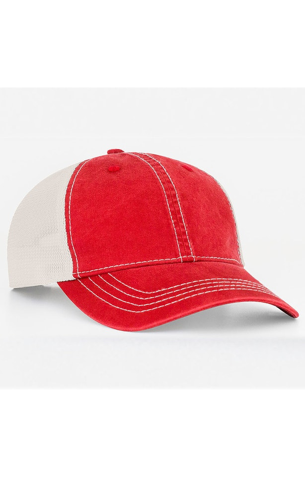 Pacific Headwear 0V67PH Red/Ivory