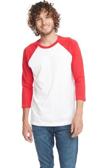Next Level 6251 RED/ WHITE