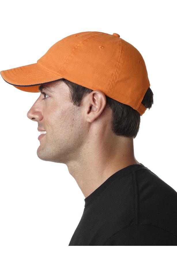 UltraClub 8112 Tangerine / Navy
