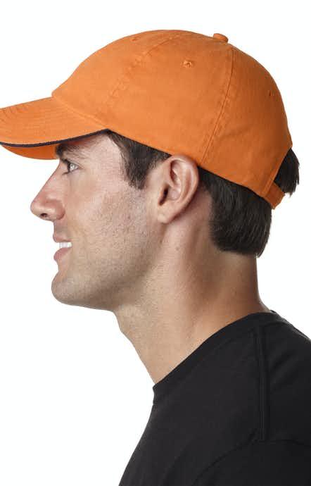 UltraClub 8112 Tangerine/ Navy