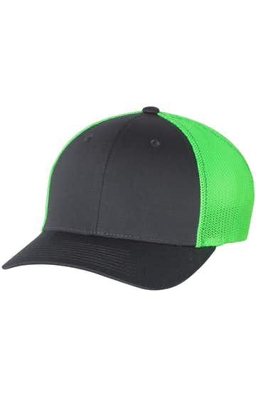 Richardson 110 Charcoal/ Neon Green