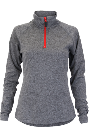 Soffe S2995VP Gray Heather / Red