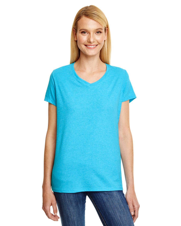 Hanes 42VT Ladies/' X-Temp® Triblend V-Neck T-Shirt