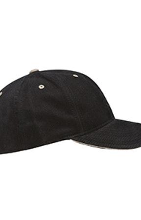 Yupoong 6262S Black/Khaki