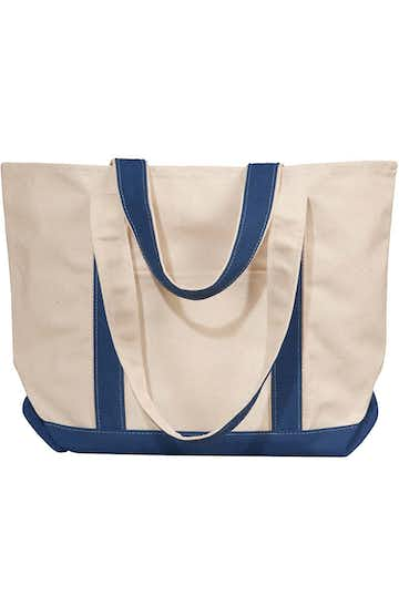 Liberty Bags 8871 Natural/Navy