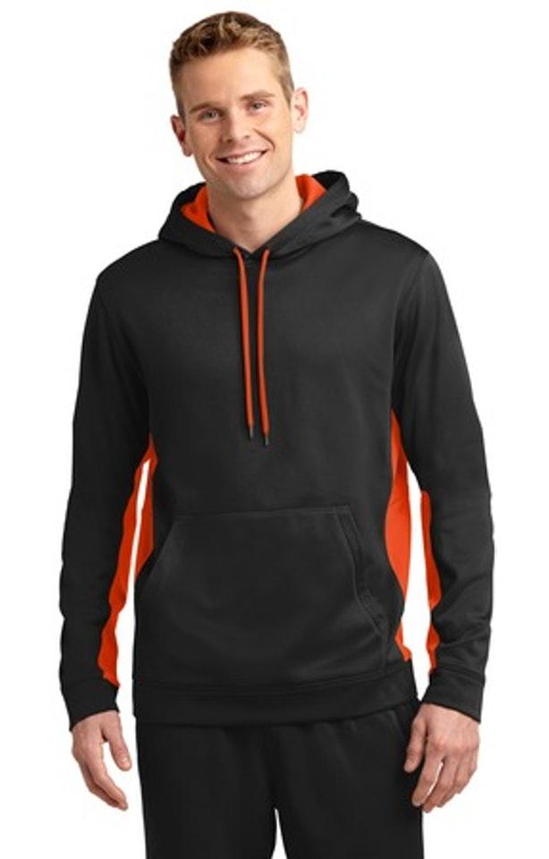 Sport-Tek ST235 Black / Deep Orange