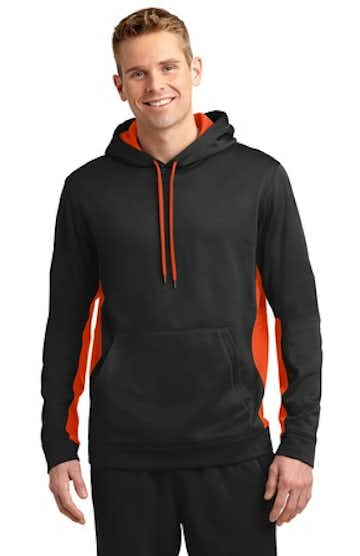 Sport-Tek ST235 Black / Deep Orange