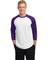 Sport-Tek ST205 White / Purple