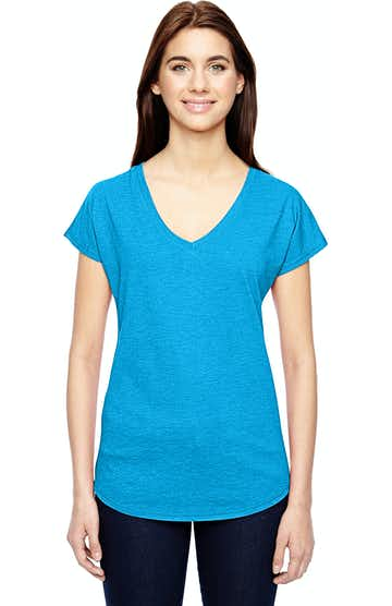 Anvil 6750VL Heather Caribean Blue