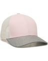 Outdoor Cap OC770 Pink / White / Heather Gray