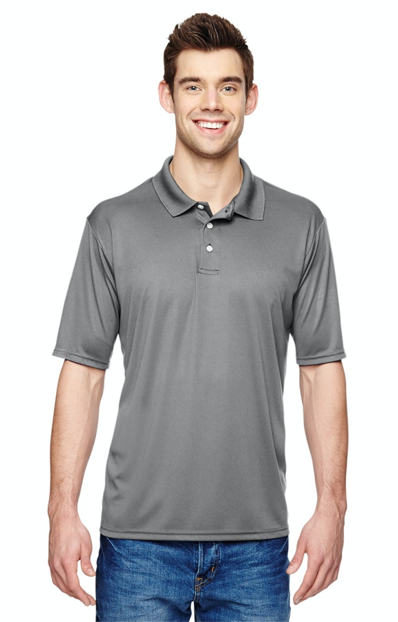 353b8551 Hanes 4800 Men's 4 oz. Cool Dri® with Fresh IQ Polo - JiffyShirts.com