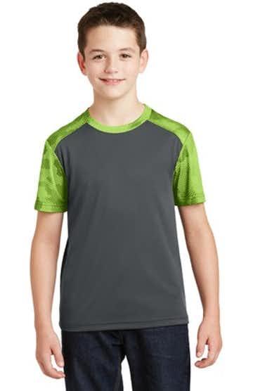 Sport-Tek YST371 Iron Gray / Limes