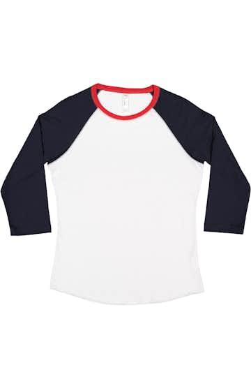 LAT LA3530 White/ Navy/ Red