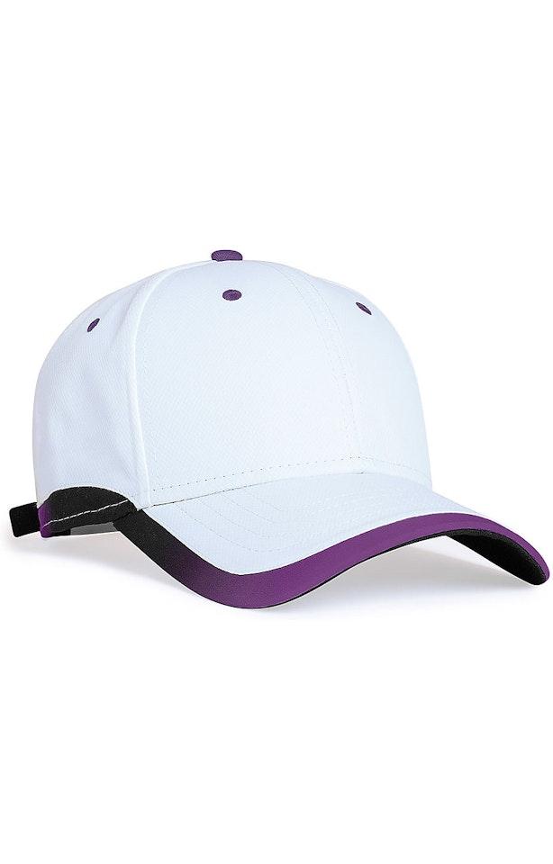 Pacific Headwear 0416PH White/Purple