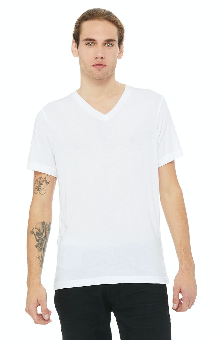 7f5b367ae Bella+Canvas 3415C Unisex Triblend Short-Sleeve V-Neck T-Shirt -  JiffyShirts.com