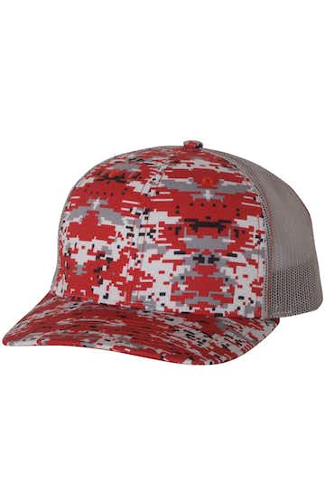 Richardson 112P Red Digital Camo/ Charcoal