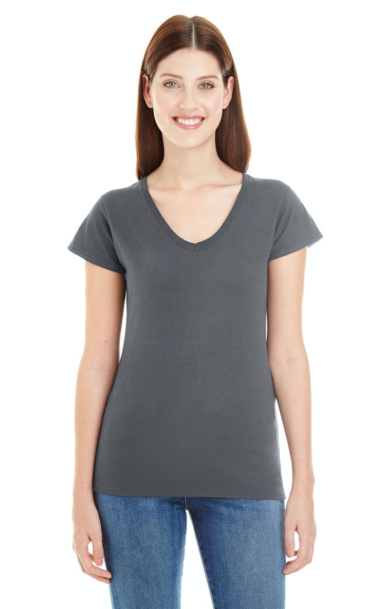 39978313f Anvil 380VL Ladies  Lightweight Fitted V-Neck T-Shirt - JiffyShirts.com