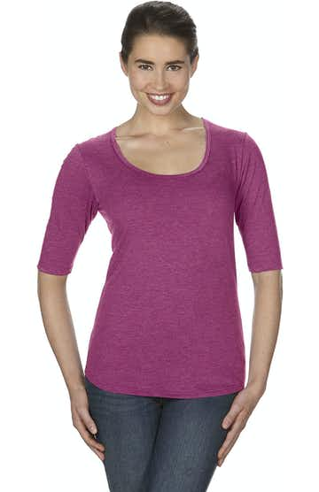 Anvil 6756L Heather Raspberry