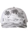 Richardson 112P Island Print Charcoal/ White