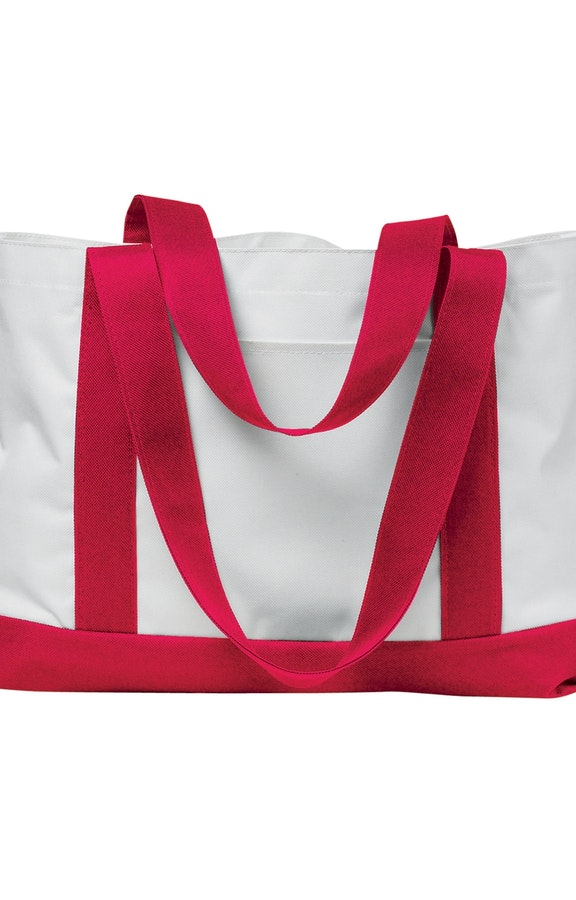 Liberty Bags 7002 White/Red