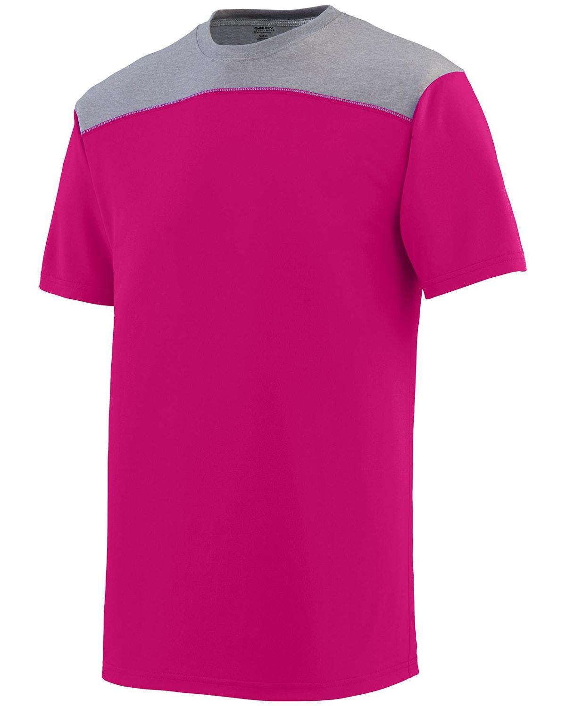 Augusta Sportswear 3055 Pwr Pnk/ Grp Hth