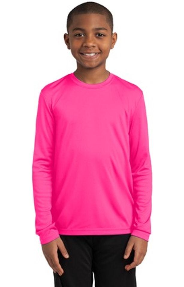 Sport-Tek YST350LS Neon Pink