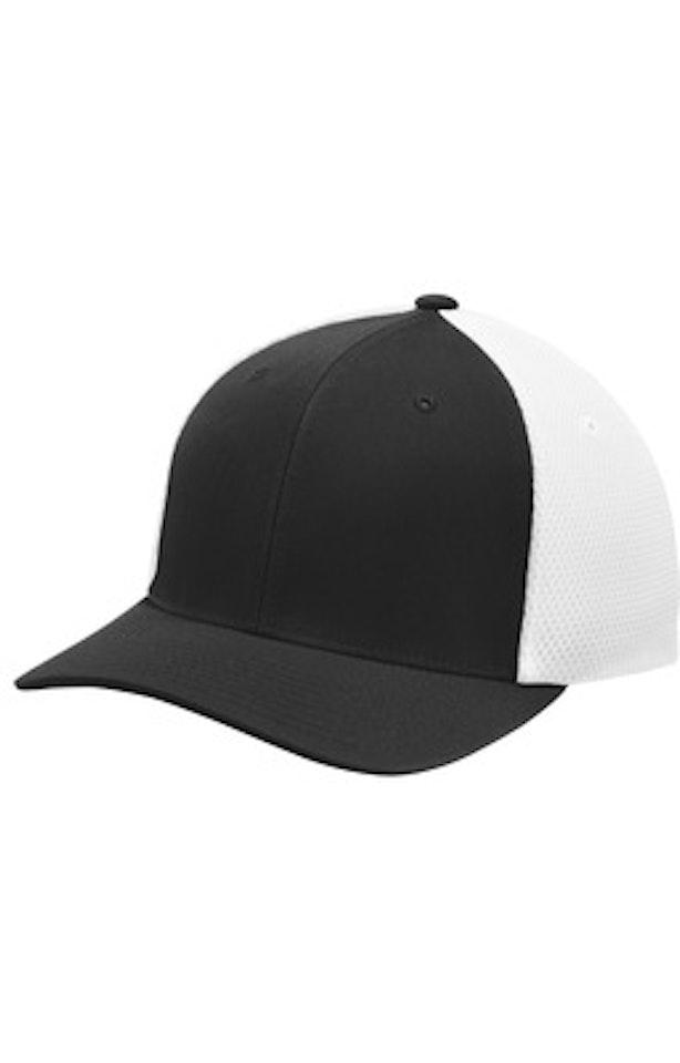 Sport-Tek STC40 Black / White