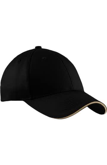 Port & Company CP85 Black / Khaki