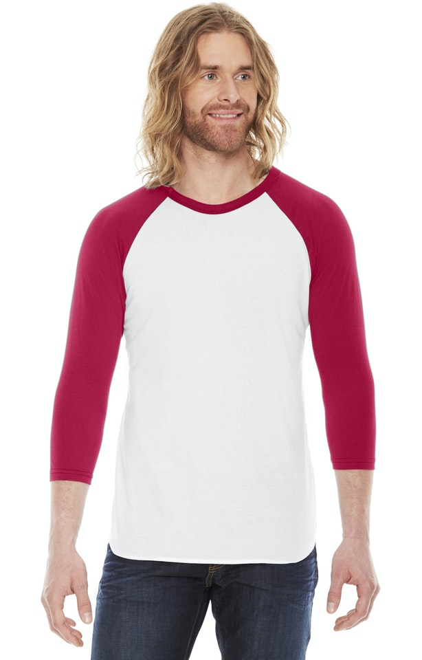 American Apparel BB453 White/Red