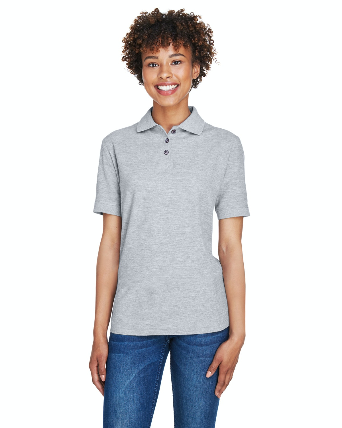 UltraClub 8541 Heather Grey