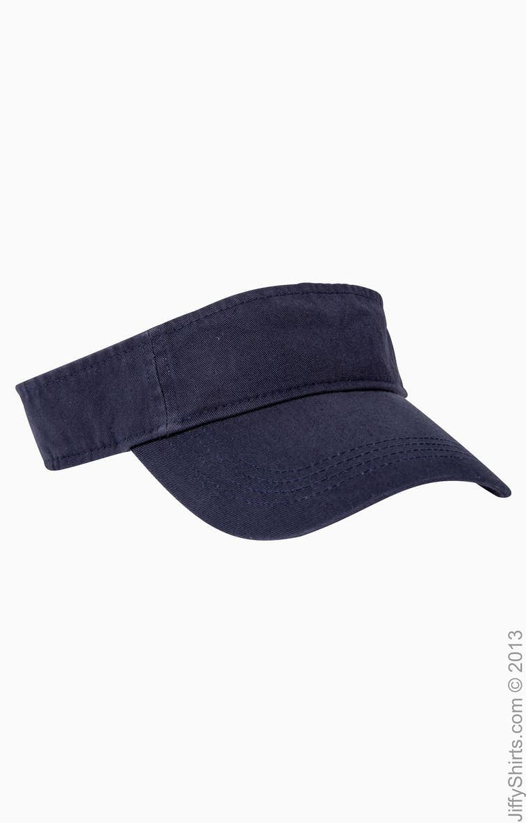 3c165763 Anvil 158 Adult Solid Low-Profile Twill Visor - JiffyShirts.com