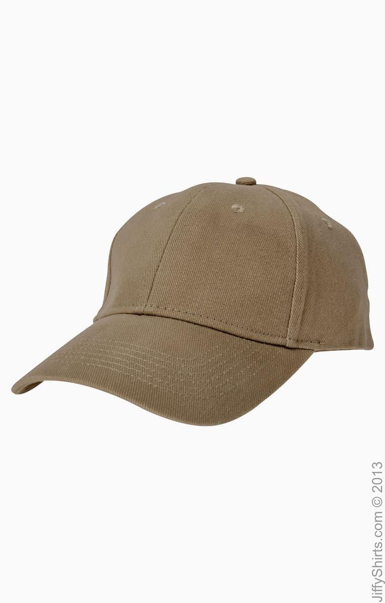 fbaf5d20444 Anvil 136 Solid Brushed Twill Cap - JiffyShirts.com