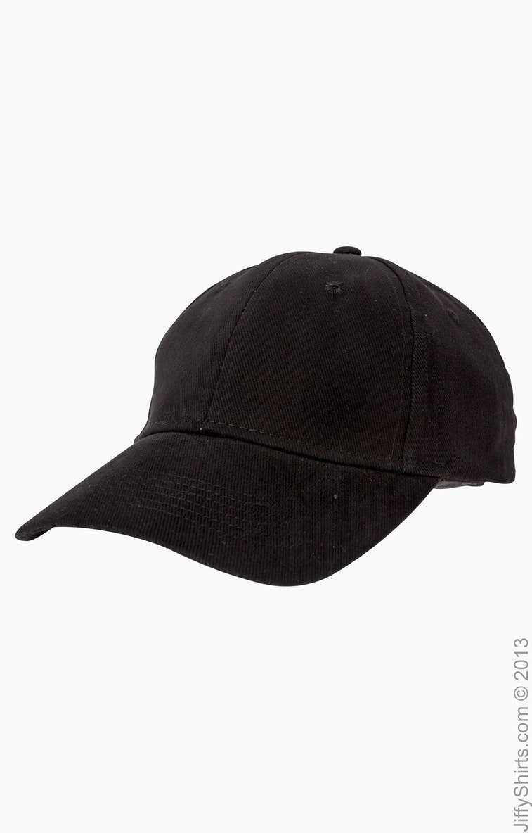 Anvil 136 Solid Brushed Twill Cap - JiffyShirts.com 3bf1d08b32e