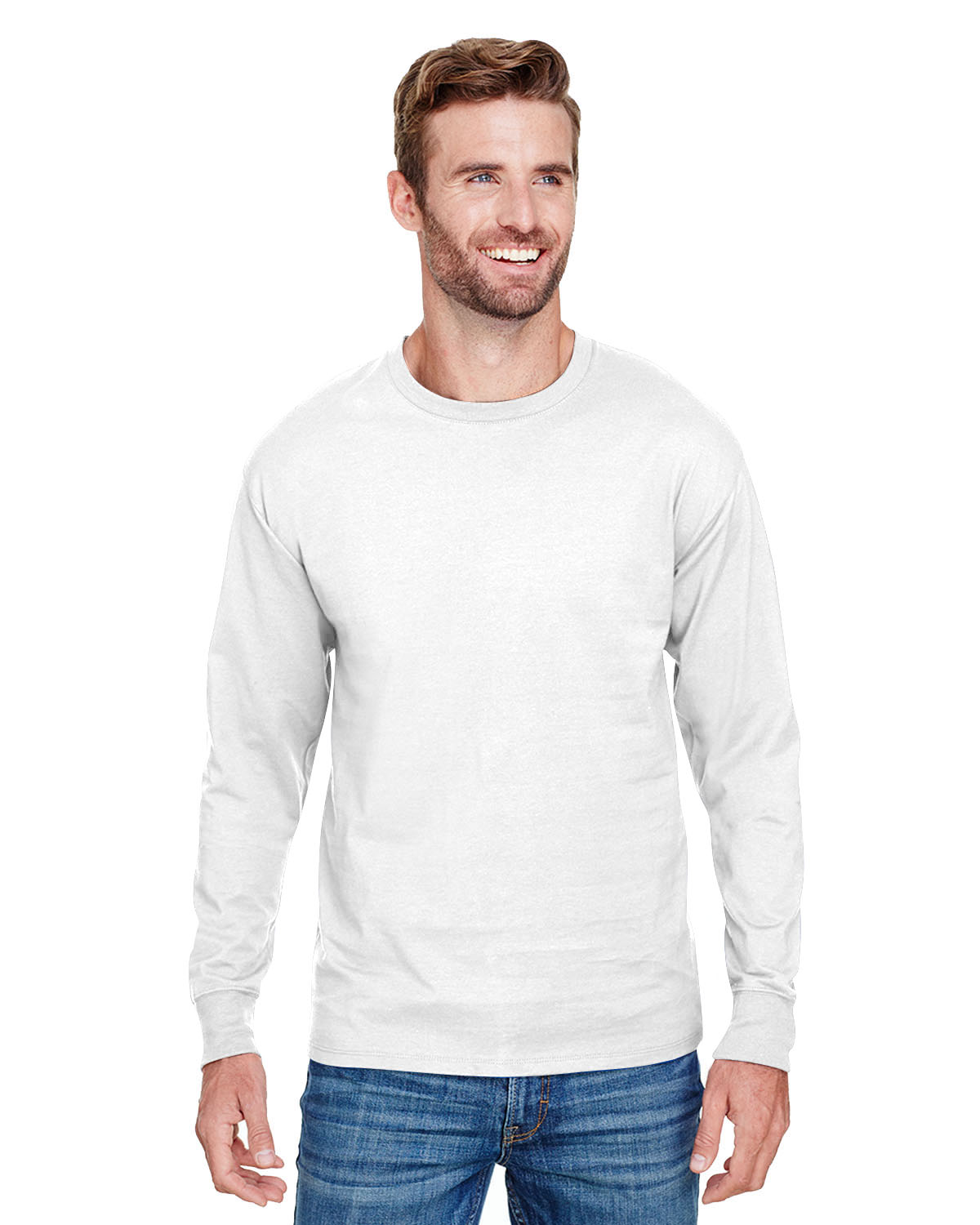 3e130ebc Champion CP15 Adult Long-Sleeve Ringspun T-Shirt - JiffyShirts.com