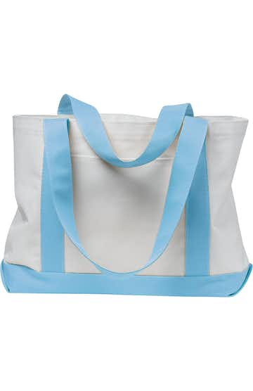 Liberty Bags 7002 White/Light Blue