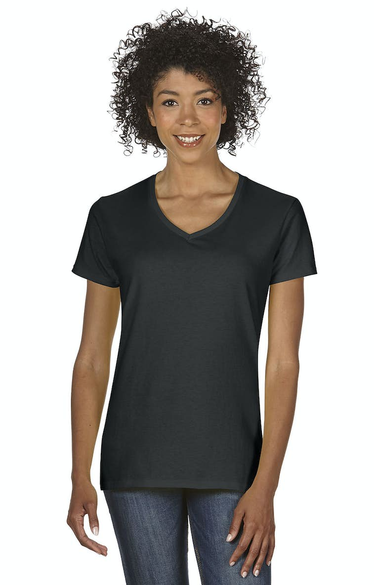 5469b240 Gildan G500VL Ladies' Heavy Cotton™ 5.3 oz. V-Neck T-Shirt ...