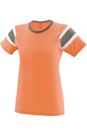 Augusta Sportswear 3011 Lt Orng/ Slt/ Wh