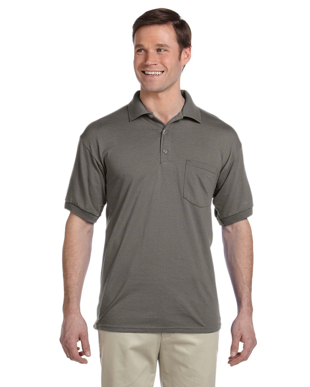 50//50 Jersey Polo With Pocket Style # G890 - Original Label Black S - By Gildan Adult 6 Oz