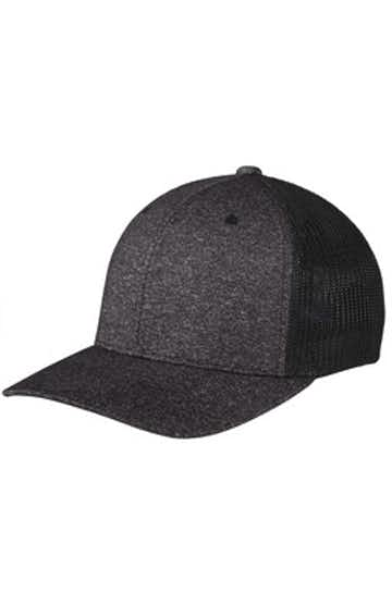 Port Authority C302 Black / Dark Ch Heather