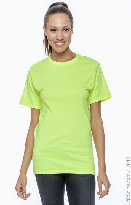 Hanes 5250T High Viz Safety Green