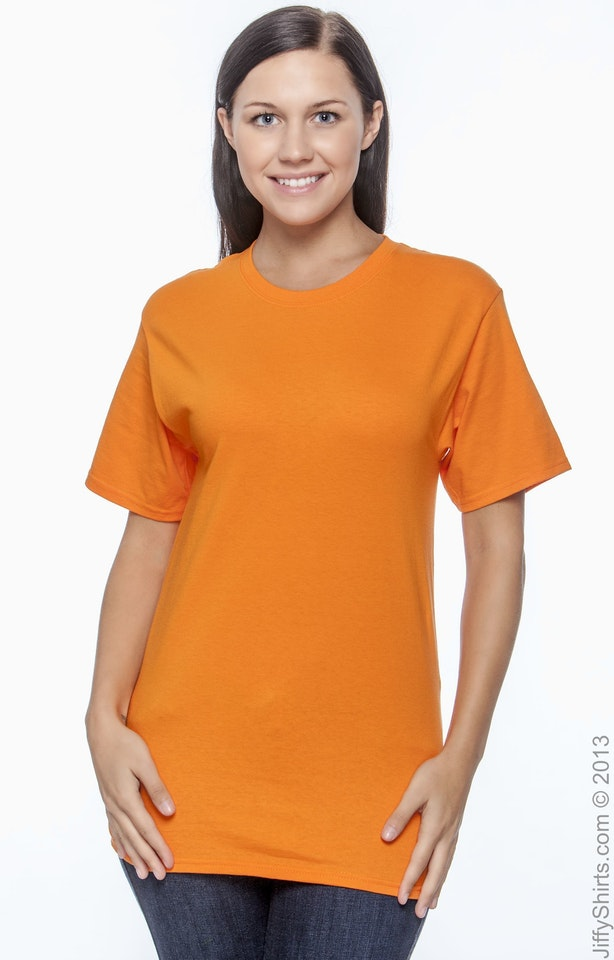 Hanes 5250T Athletic Orange