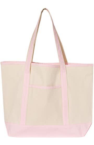 Q-Tees Q1500 Natural/ Light Pink